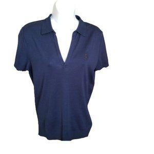 Ralph Lauren Top Polo T- Shirt Women's Wear Large